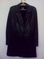 Продам пиджак кожаный чёрный