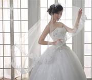 Свадебная фата с вышивкой 135 см