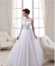 Распродажа коллекции 2016 года - Новое белоснежное платье с вышивкой