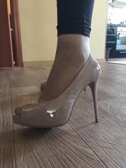 Продам бежевые туфли в идеальном состоянии