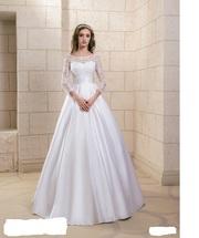 СКИДКИ! Новое очаровательное европейское свадебное платье с рукавами 2018 г.
