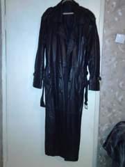 Продам кожаный мужской плащ  52-54- бу
