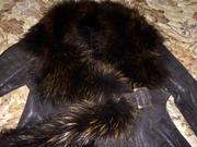 Красивая дубленка - шуба легкая,  мягкая,  48,  Турция.